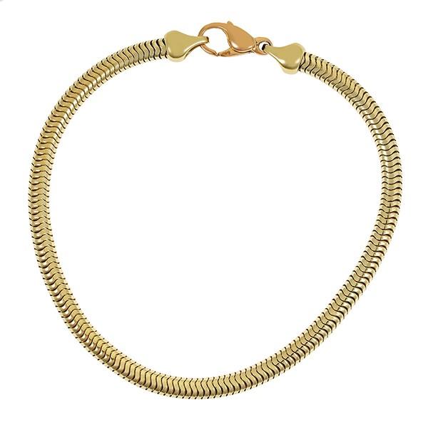 Armband 585 / 20,00gr Gelbgold L 21 cm Schlangen- Detailbild #1