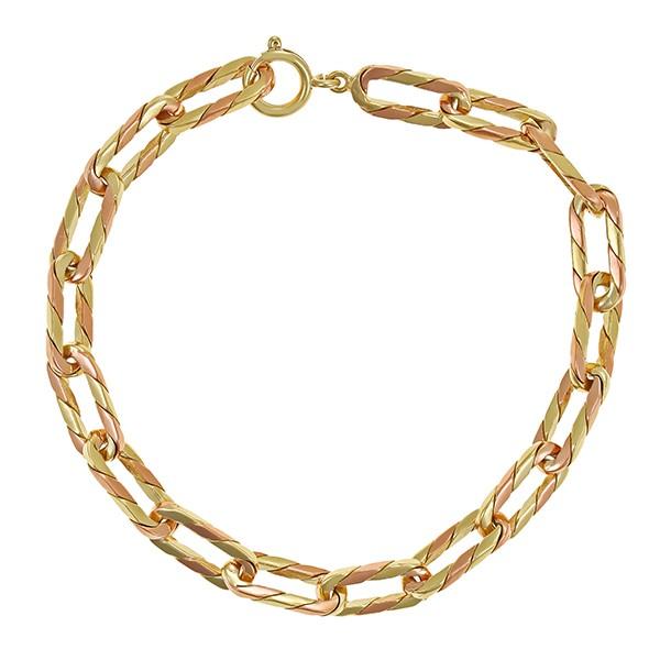 Armband 585 / 16,20gr Gelbgold/Rotgold L 19 cm Anker- Detailbild #1