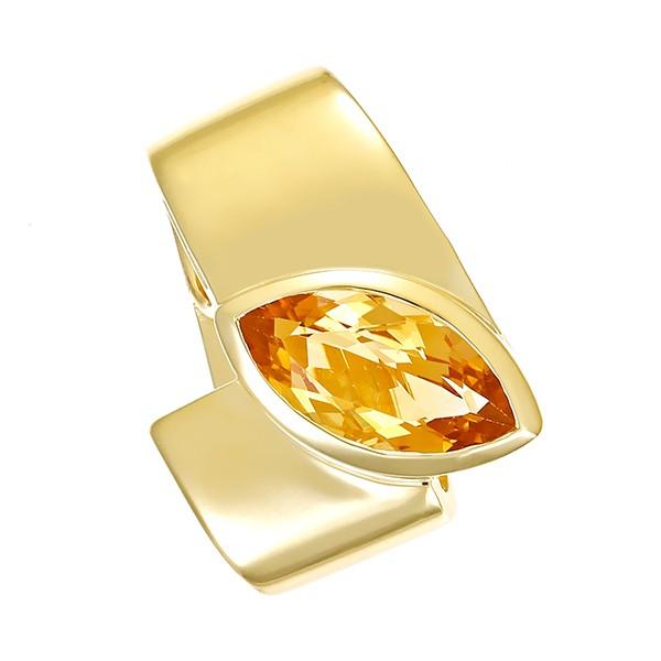 Anhänger 585 / 6,50gr Gelbgold 1 Citrin Detailbild #1