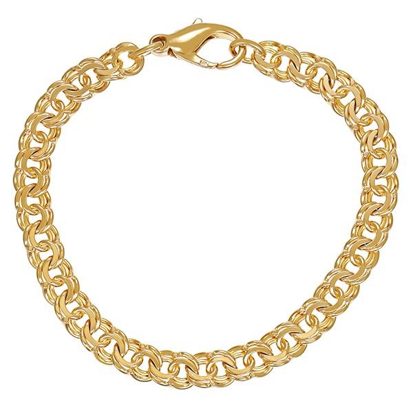 Armband 585 / 14,40gr Gelbgold L 18,5 cm Garibaldi- Detailbild #1