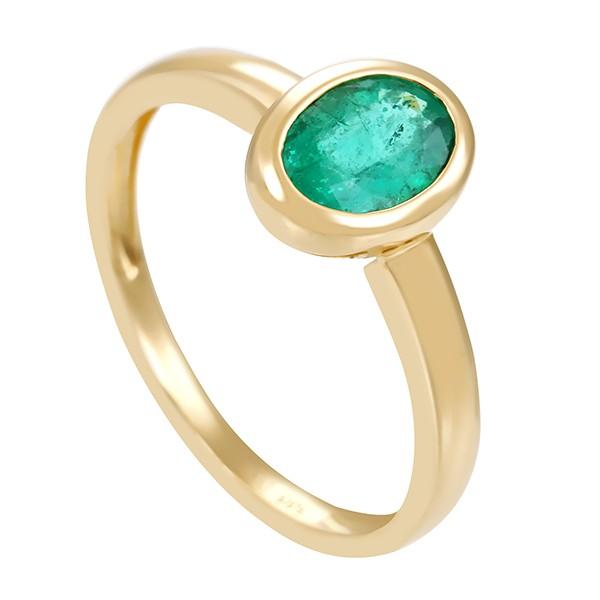 Damenring 585 / 1,90gr Gelbgold Umfang 54 1 Smaragd Detailbild #1