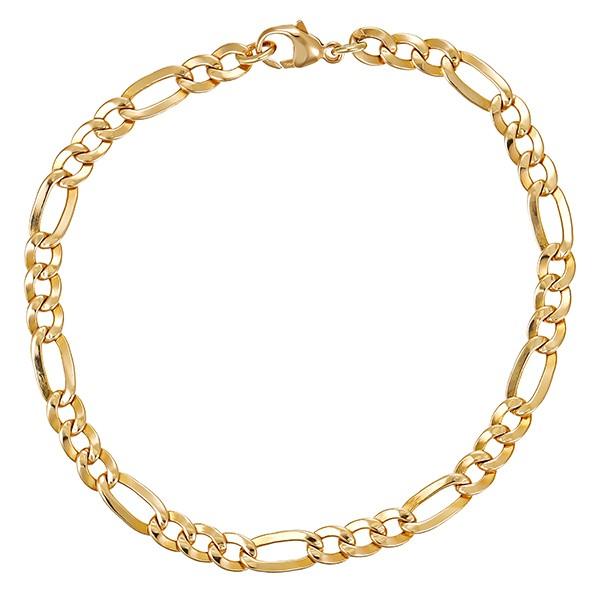 Armband 585 / 8,70gr Gelbgold L 21 cm Figaro- Detailbild #1
