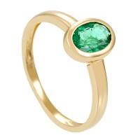 Damenring 585 / 1,80gr Gelbgold Umfang 54 1 Smaragd Detailbild #1