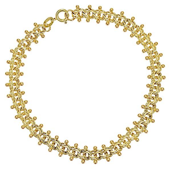 Armband 333 / 8,00gr Gelbgold Garibaldi- L 19 cm Detailbild #1