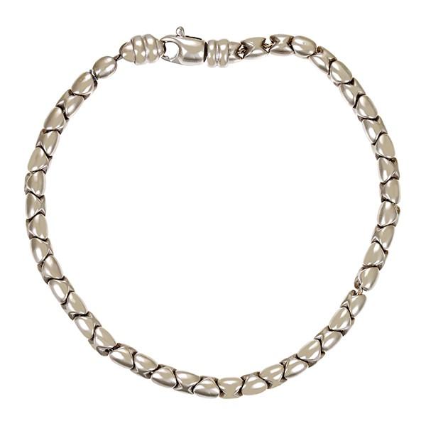 Armband 585 / 9,40gr Weißgold L 20 cm Fantasiemuster Schmuckstück wurde rhodiniert Detailbild #1