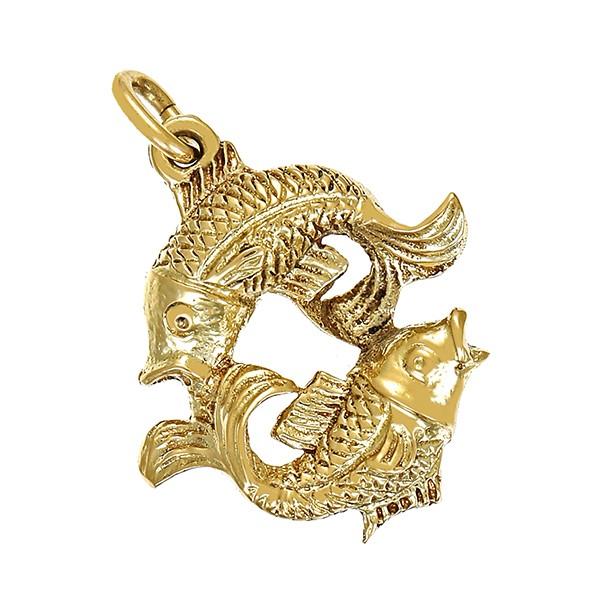 Anhänger 585 / 4,60gr Gelbgold Sternzeichen Fisch Detailbild #1
