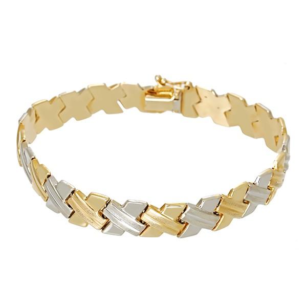 Armband 585 / 13,30gr Gelb-/Weißgold L 20 cm Detailbild #1