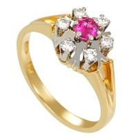 Ring,18K,Gelb/Weißgold,Rubin,Brillant(en) Detailbild #1
