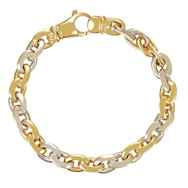 Armband 585 / 37,20gr Gelb-/Weißgold Anker- L 19,5 cm Detailbild #1