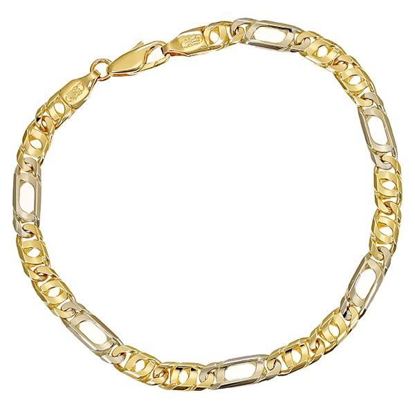 Armband 585 / 14,50gr Gelb-/Weißgold L 21 cm Fantasiemuster Detailbild #1