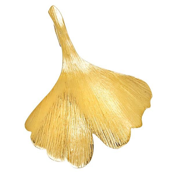 Anhänger 585 / 5,80gr Gelbgold Ginkgo Detailbild #1