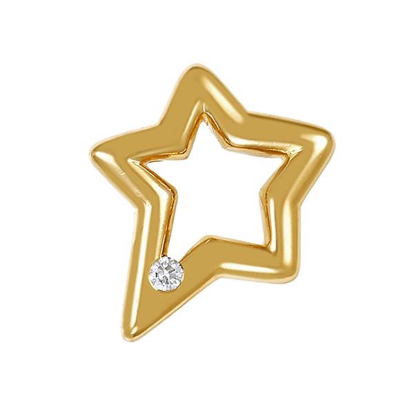 Anhänger 750 / 2,80gr Gelbgold Stern Christ 1 Brill. ca. 0,03ct Detailbild #1