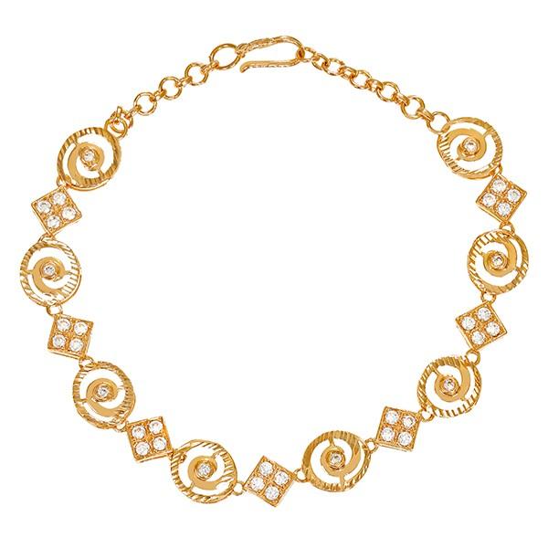 Armband 875 / 8,80gr Gelbgold L 20 cm Fantasie- 36 Zirkonia Detailbild #1