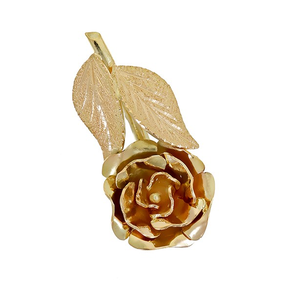 Anhänger 585 / 5,40gr Gelbgold Rose Detailbild #1