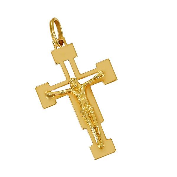 Anhänger 750 / 2,50gr Gelbgold Kruzifix Detailbild #1