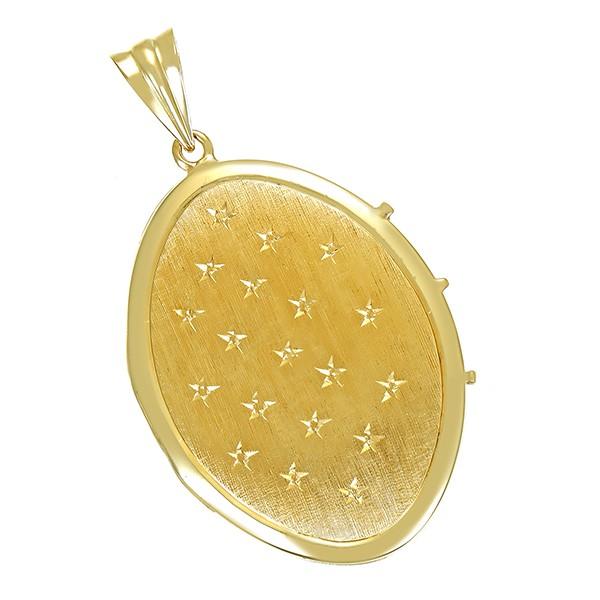 Anhänger 585 / 8,40gr Gelbgold Medaillon Detailbild #1