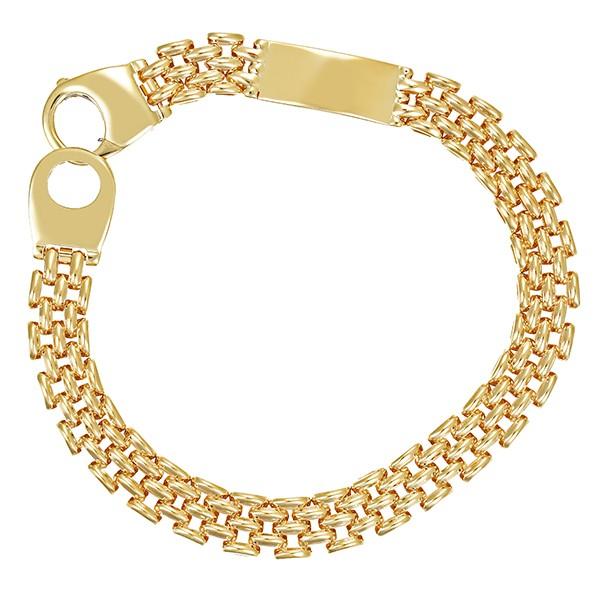 Armband 585 / 18,50gr Gelbgold L 19 cm Fantasiemuster Detailbild #1