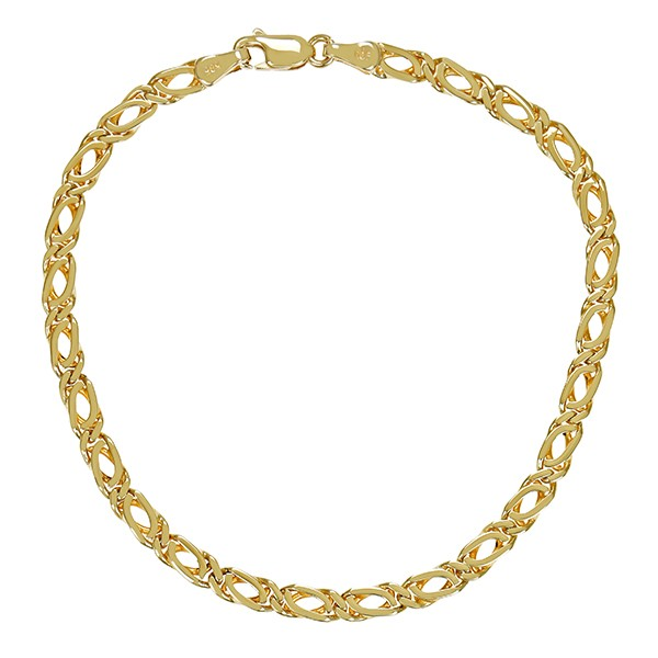 Armband 585 / 7,00gr Gelbgold L 21 cm Fantasie- Detailbild #1