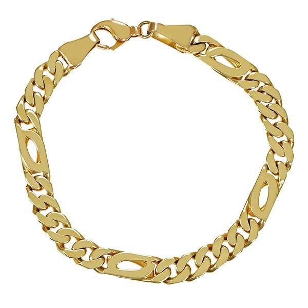 Armband 585 / 38,90gr Gelbgold L 23 cm Figaro- Detailbild #1