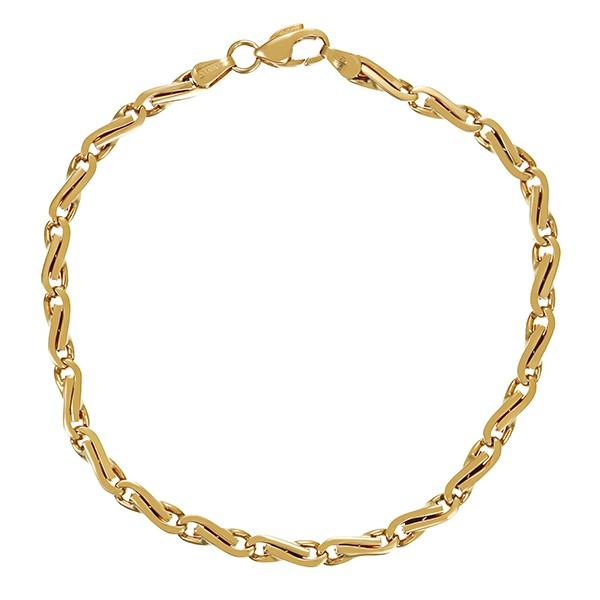 Armband 585 / 6,60gr Gelbgold L 19 cm Fantasiemuster Detailbild #1