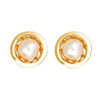 Ohrringe Perlen, 18K, Gelbgold Detailbild #1