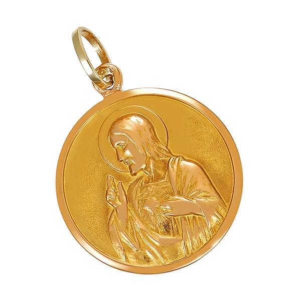 Anhänger 585 / 4,20gr Gelbgold Jesus und Maria Detailbild #1