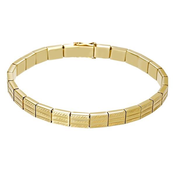 Armband 585 / 19,00gr Gelbgold L 19,5 cm Fantasiemuster Detailbild #1