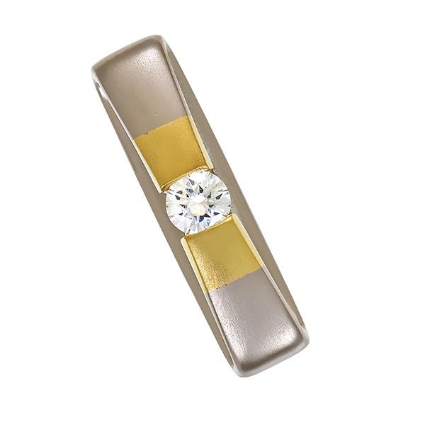 Anhänger 585 / 11,00gr Gelb-/Weißgold 1 Brill. ca. 0,70ct W (H) VS Detailbild #1