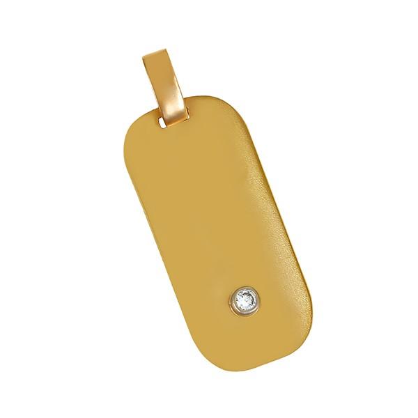 Anhänger 750 / 3,10gr Gelbgold 1 Brill. ca. 0,05ct Detailbild #1