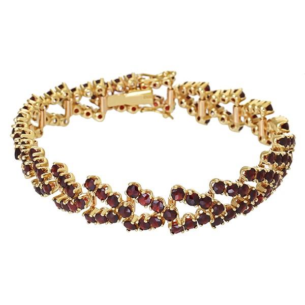 Armband 333 / 22,40gr Gelbgold L 19 cm 140 Granate Detailbild #1