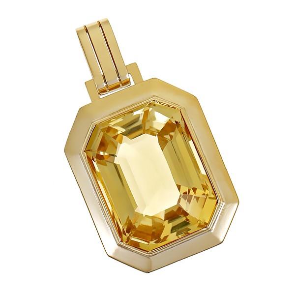Anhänger 585 / 11,50gr Gelbgold 1 Citrin Detailbild #1