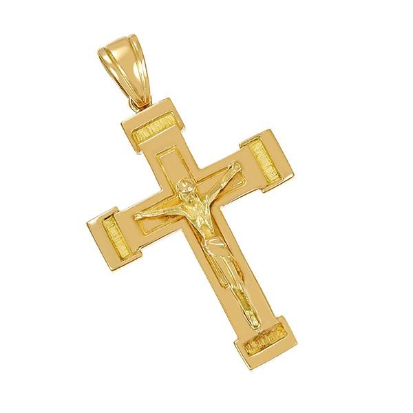 Anhänger 750 / 6,40gr Gelbgold Kruzifix Detailbild #1