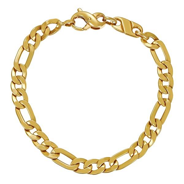 Armband 750 / 10,00gr Gelbgold L 20 cm Figaro- Detailbild #1