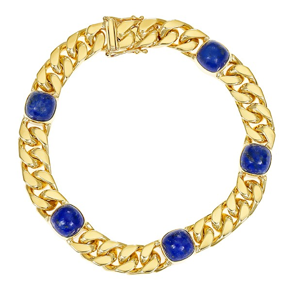 Armband 585 / 44,80gr Gelbgold L 19,5 cm 5 Lapis Detailbild #1