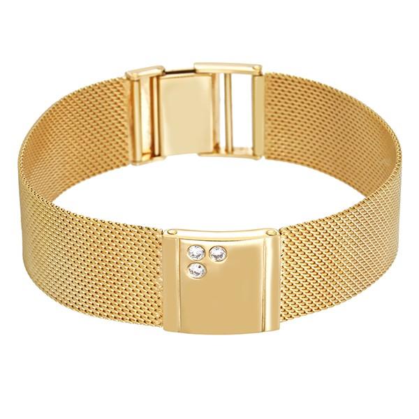 Armband 585 / 34,30gr Gelbgold Fantasie- L 19 cm 3 Brill. z.ca. 0,14ct lgW (I-J) SI Detailbild #1