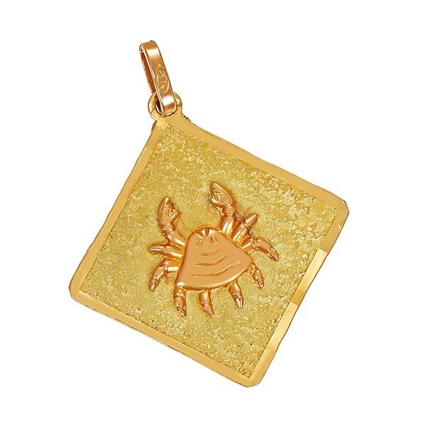 Anhänger 750 / 5,70gr Gelbgold Sternzeichen Krebs Detailbild #1