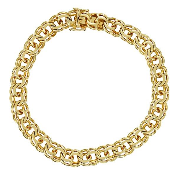 Armband 585 / 24,30gr Gelbgold L 21 cm Garibaldi- Detailbild #1
