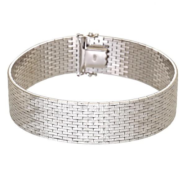 Armband 585 / 42,00gr Weißgold L 18,5 cm Schmuckstück wurde rhodiniert Detailbild #1