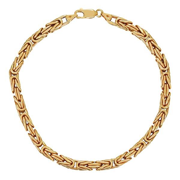 Armband 585 / 24,80gr Gelbgold L 23 cm Königs- Detailbild #1