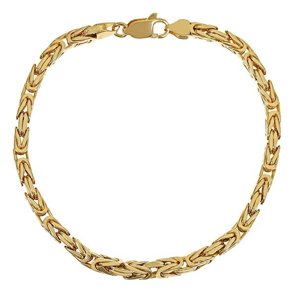 Armband 585 / 29,70gr Gelbgold L 24 cm Königs- Detailbild #1