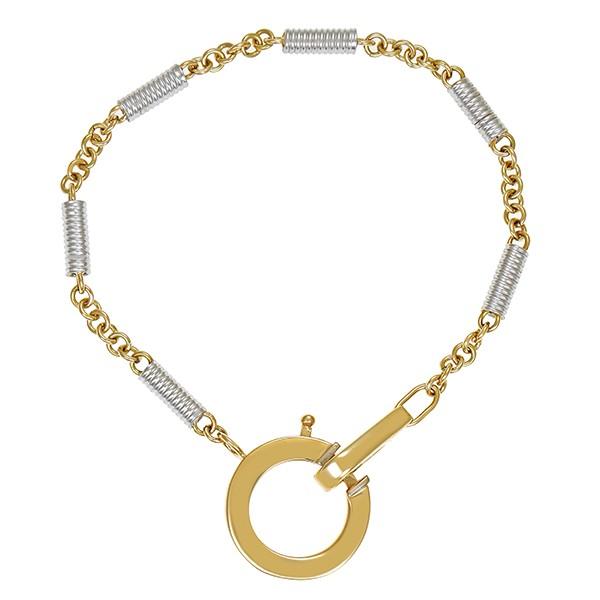Armband 585 / 15,80gr Gelb-/Weißgold L 21 cm Fantasie- Detailbild #1