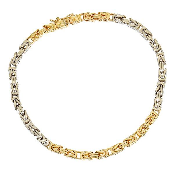 Armband 585 / 20,90gr Gelb-/Weißgold L 21 cm Königsarmband Detailbild #1