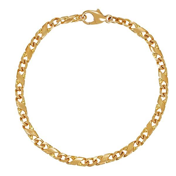 Armband 585 / 8,90gr Gelbgold L 18 cm Fantasiemuster Detailbild #1