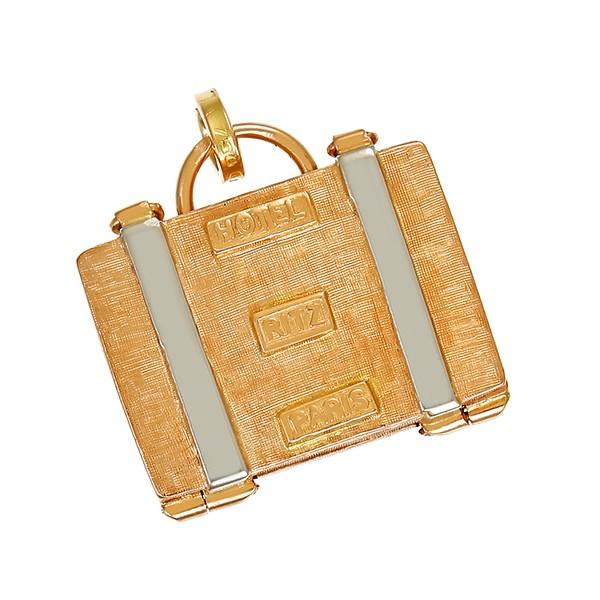 Anhänger 750 / 7,60gr Gelb-/Weißgold Koffer 1 Schmuckstein Detailbild #1