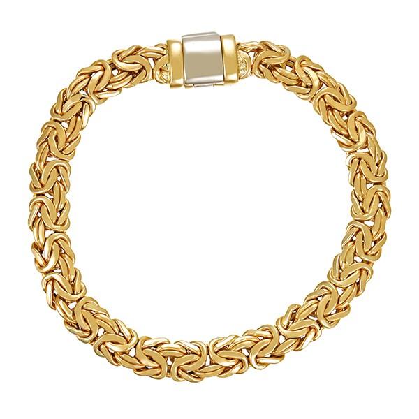 Armband 750 / 17,30gr Gelbgold L 20 cm Königs- Detailbild #1