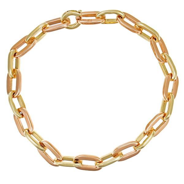 Armband 585 / 25,40gr Gelbgold/Rotgold L 20,5 cm Anker- Detailbild #1