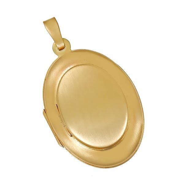 Anhänger 585 / 4,80gr Gelbgold Medaillon Tragespuren Detailbild #1