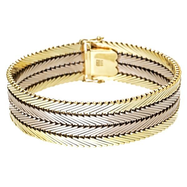 Armband 585 / 63,60gr Gelb-/Weißgold L 19 cm Detailbild #1