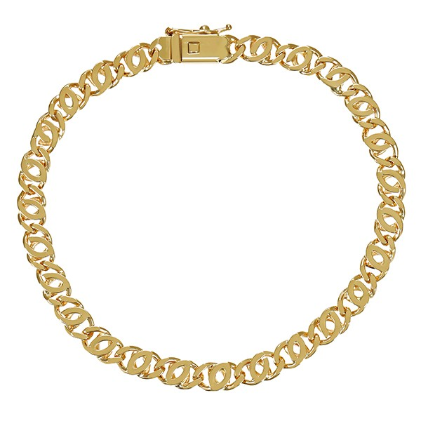 Armband 585 / 11,70gr Gelbgold L 20 cm Garibaldi- Detailbild #1