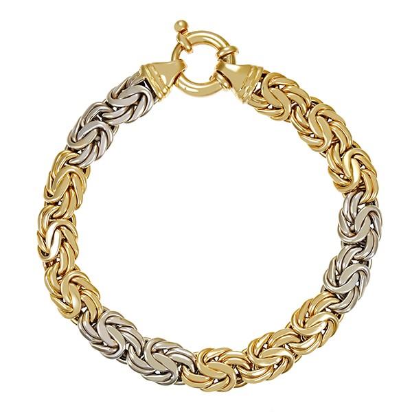 Armband 585 / 24,40gr Gelb-/Weißgold L 20,5 cm Königs- Detailbild #1
